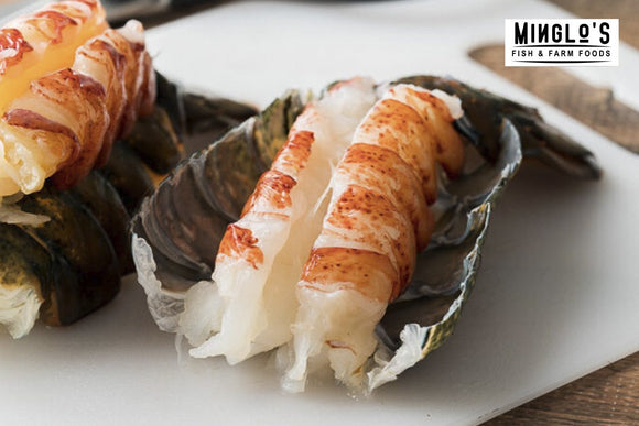 LOBSTER TAIL MEAT - Cleaned Deveined - (10 to 12) Count 1KG - MINGLO'S