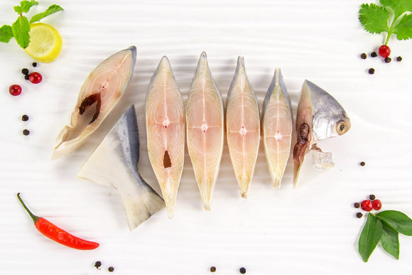 Silver Pomfret Curry Cut Slices 500g - MINGLO'S