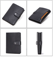 Load image into Gallery viewer, Top Quality Genuine Leather Wallet With Passport Photo Holder For Men