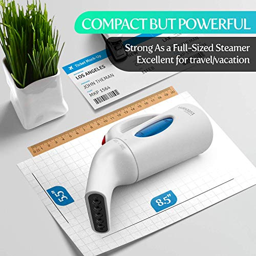 iSteam Clothes Steamer Handheld [Powerful Technology] Dry Steam 7-in-1-I-STEAM