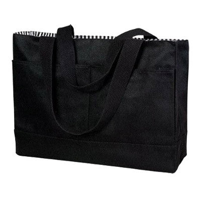 Double Pocket Canvas Tote