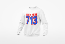 Load image into Gallery viewer, FLEW HERE 713 Embroidered Crewneck Sweatshirt