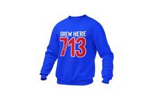 Load image into Gallery viewer, Grew Here 713 Embroidered Crewneck Sweatshirt