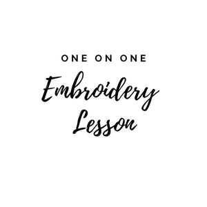 1 on 1 Virtual Embroidery Lesson (one hour)