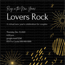Load image into Gallery viewer, Virtual New Years Eve Party: Lovers Rock Couples Night