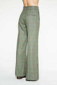 Pantalon Clark Green Check