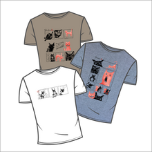 Load image into Gallery viewer, Neko I, II and III - a set of three t-shirts