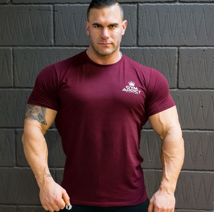 fair price new cheap recognized brands Men's Muscle Fit T-shirt Burgandy