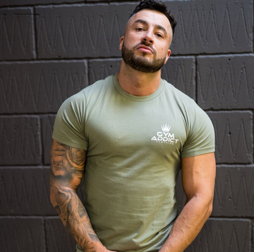 a few days away new style fantastic savings Men's Muscle Fit T-shirt Khaki