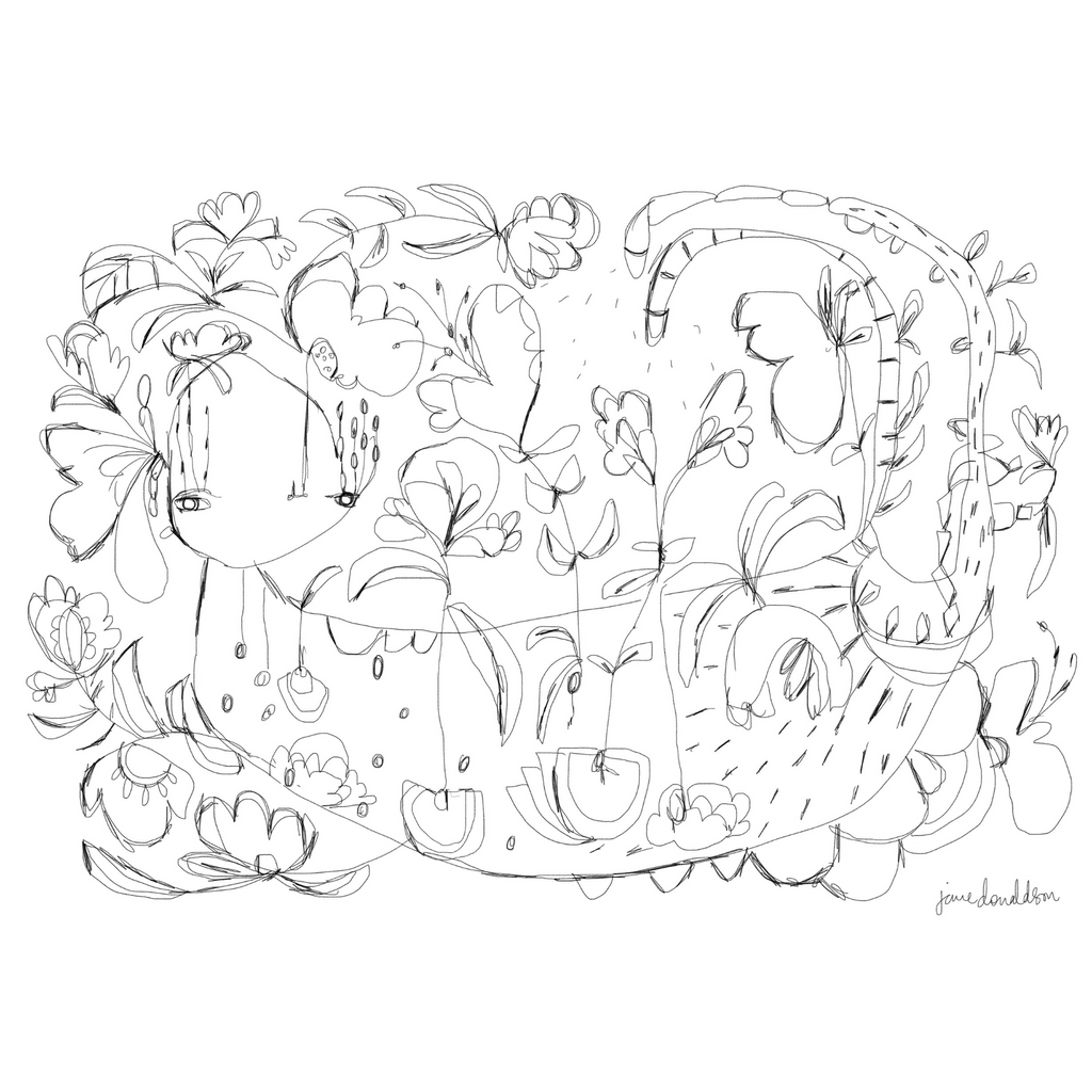 Bloom Colouring Page by Jane Donaldson