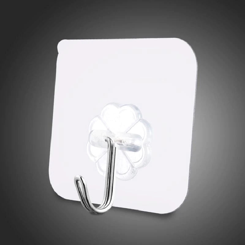 Strong Transparent Self Adhesive Door Wall Hangers Suction Cup Sucker Plastic Wall Hooks Hanger for Kitchen Bathroom Accessories - Baths Planet