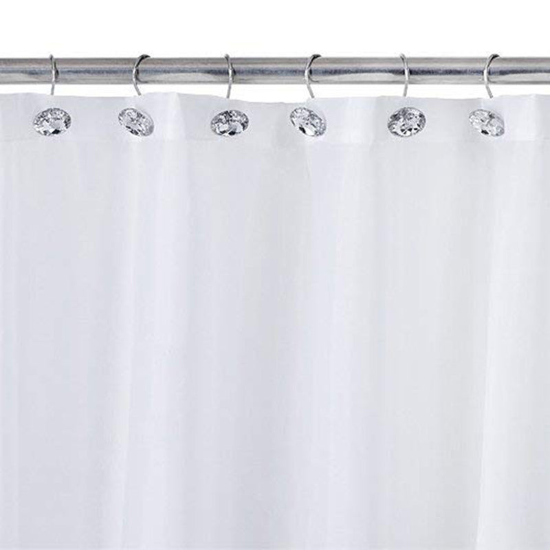 NOCM Shower curtain Bling hooks Rings Acrylic Decorative Rhinestones Glass Crystal Rolling Bathroom Bath Set of 12 Rings - Baths Planet