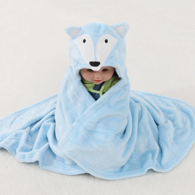 Baby Bathrobe Cute Animal Cartoon Baby Blanket Kids Hooded Bathrobe Toddler Baby Bath Towel Newborn Baby Blanket Children Towel - Baths Planet