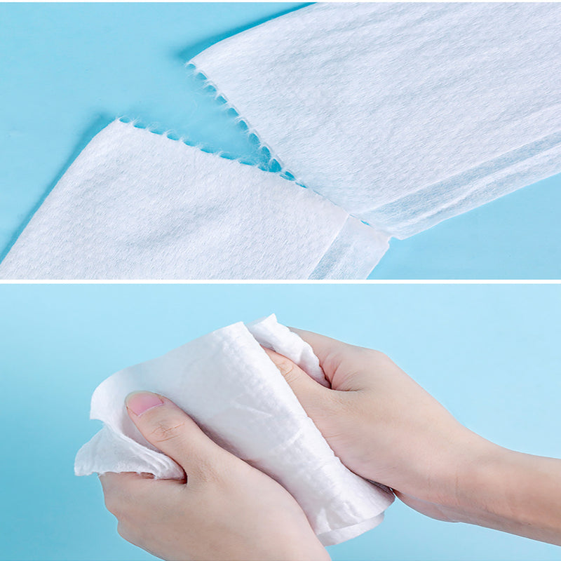 Disposable Face Towel Non-Woven Facial Tissue One-Time Makeup Wipes Cotton Pads Facial Cleansing Roll Paper Tissue Makeup Towel - Baths Planet
