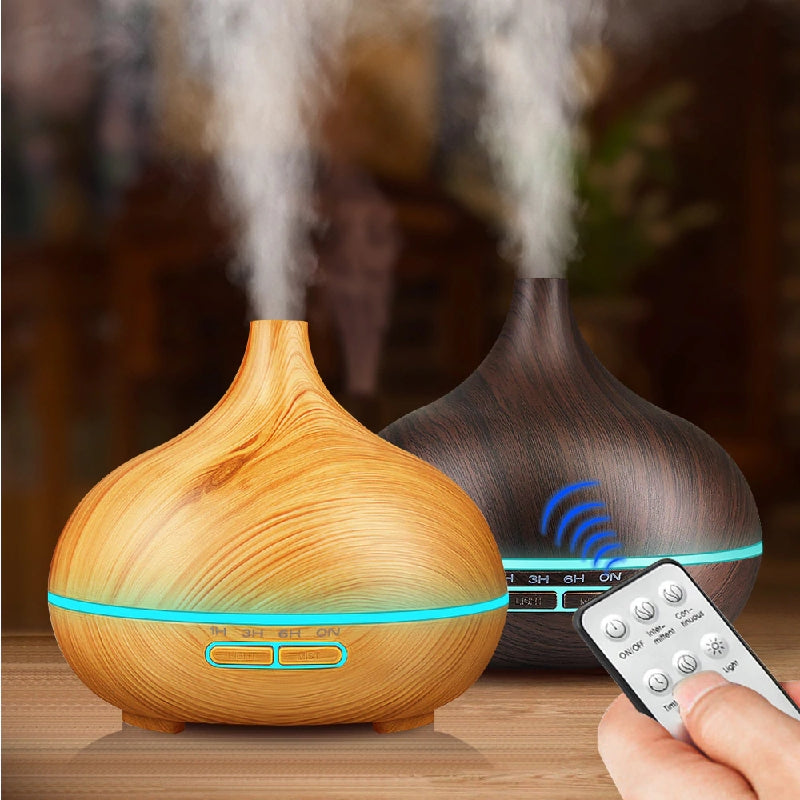 550ml Aroma Air Humidifier Essential Oil Diffuser Aromatherapy Electric Ultrasonic cool Mist Maker for Home Remote Control - Baths Planet