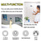 180 * 180cm EVA Bathroom Mount Clear Shower Curtains Phone Holder Storage Liner Tablet Phone Holder Waterproof Curtains - Baths Planet