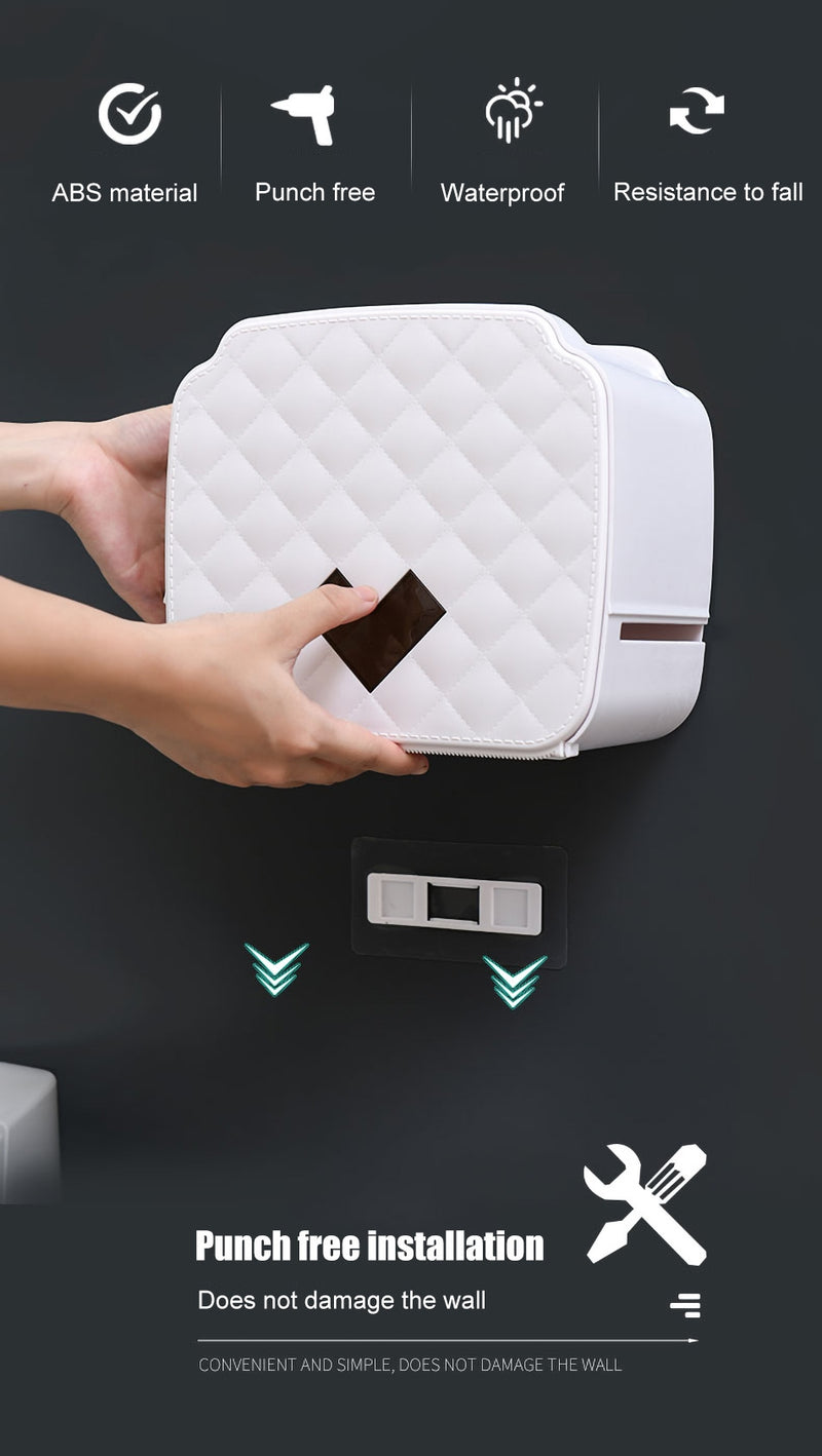 ONEUP Portable Toilet Paper Holder Plastic Waterproof Paper Dispenser For Toilet Home Storage Box Bathroom Accessories - Baths Planet
