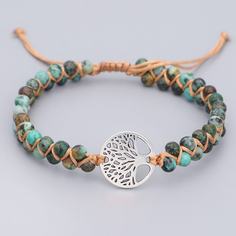 Hand-woven Double-layer Tree Of Life Yoga Bracelet