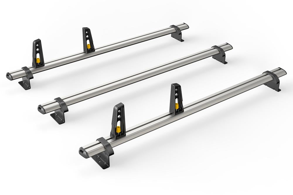 3x ULTI Bars Aluminium Roof Bars Volkswagen Caddy 2015 - Present