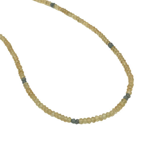 Gemstone Beaded Necklaces citrine and labradorite adjustable length