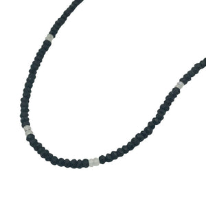 Gemstone Beaded Necklaces black onyx and moonstones adjustable length