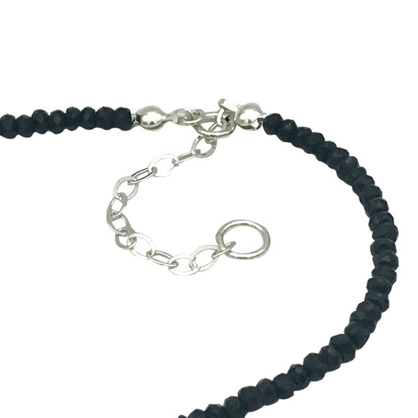 Gemstone Beaded Necklaces adjustable length with 2 inch sterling silver extender