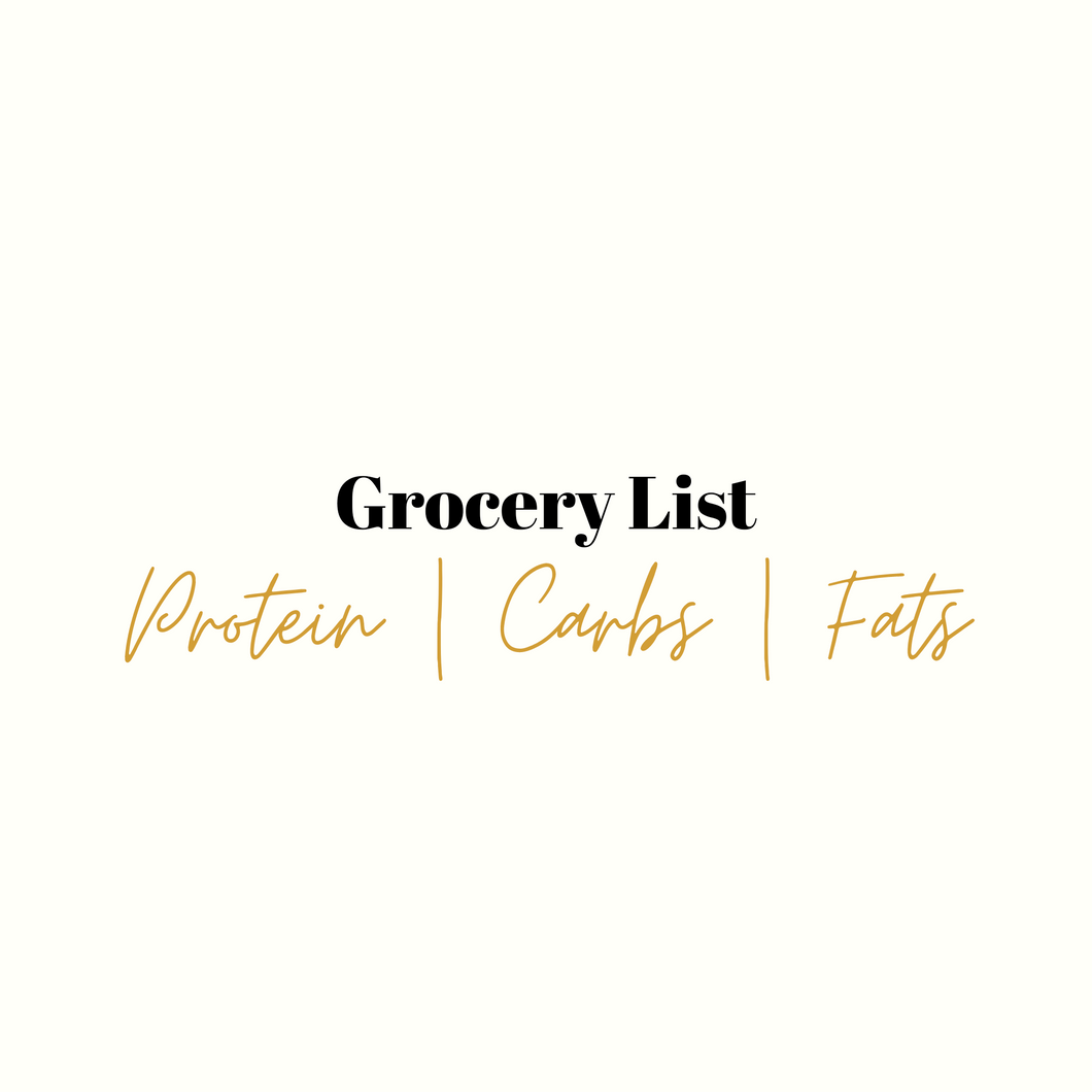 Clean Grocery List