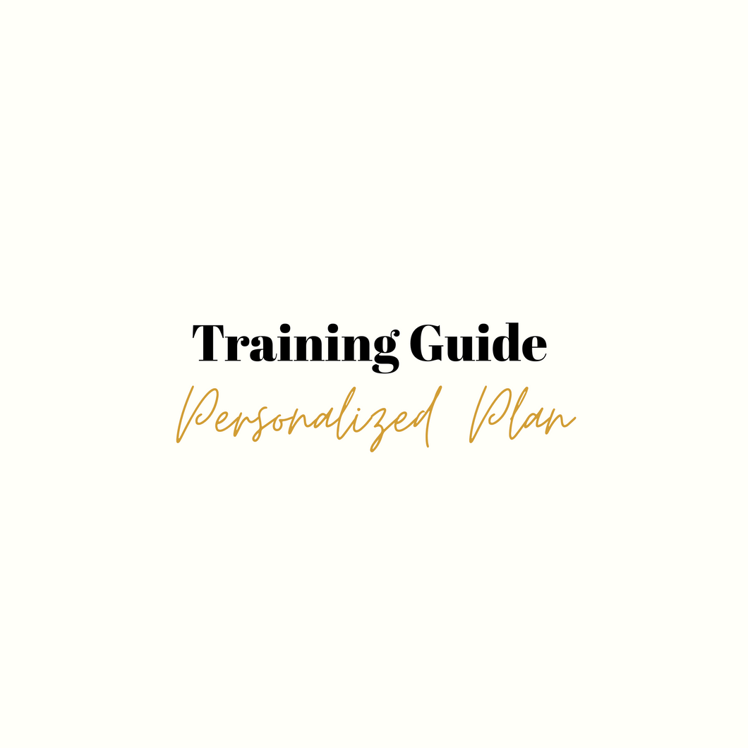 Personalized Training Guide