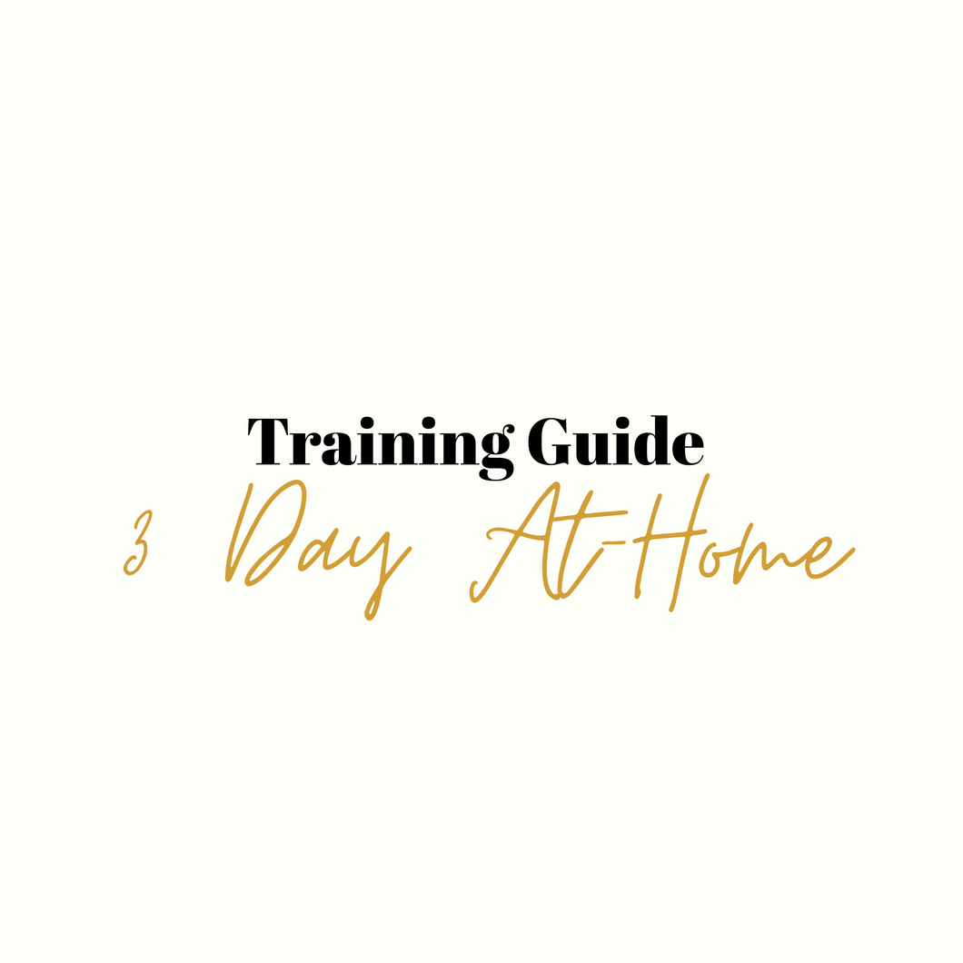 3 Day At-Home Training Guide