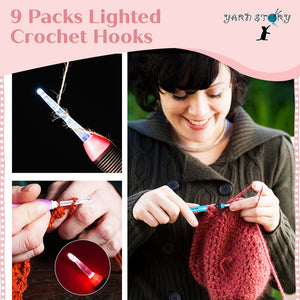 9 Pack Lighted Crochet Hooks