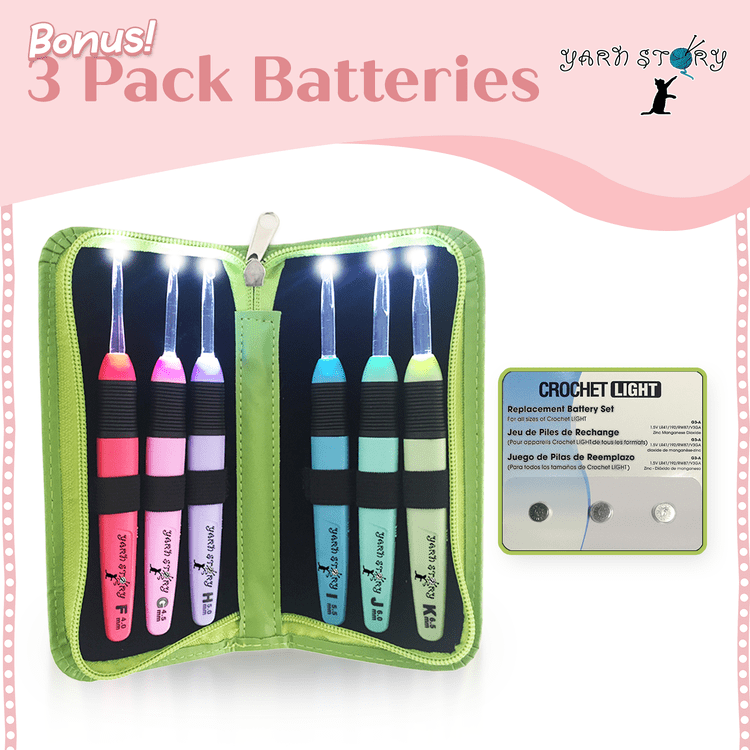 Load image into Gallery viewer, 3 Pack Batteries - Crochet Story