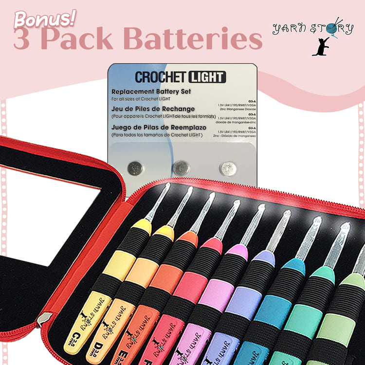 Bonus 3 Pack Batteries - Crochet Story
