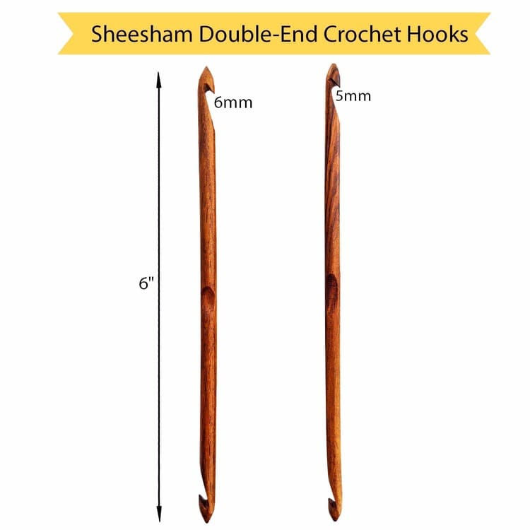 Sheesham Double-End Crochet Hooks