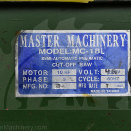 Master Machinery MC-18L Upcut Saw
