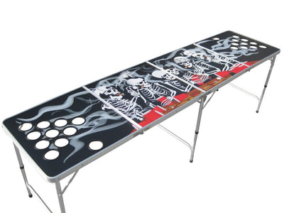 Beer Pong Bord - Skeleton Party med / uden Cupholes