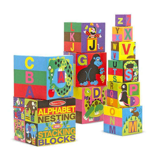 Alphabet Nesting and Stacking Blocks - souzu.co.uk