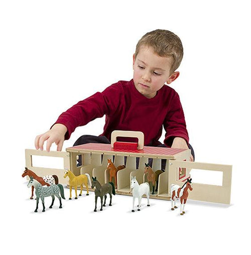 Show-Horse Stable Play Set - souzu.co.uk