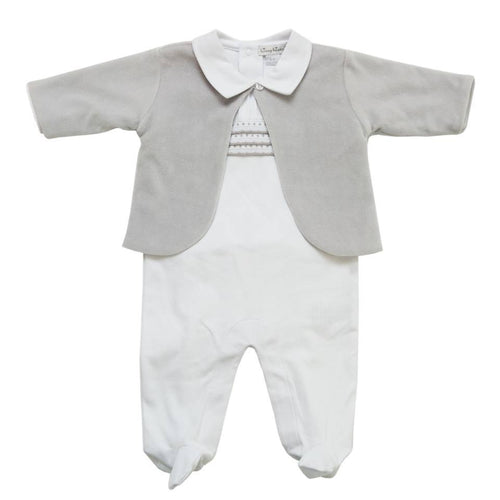 Sliver Jacket & Babygrow Set - souzu.co.uk