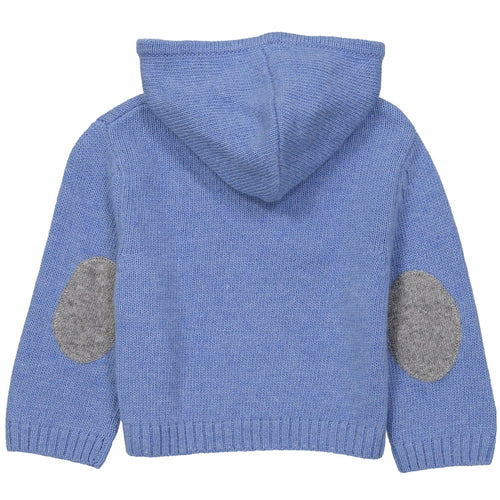 Blue Jean Zipped Hooded Sweater - souzu.co.uk