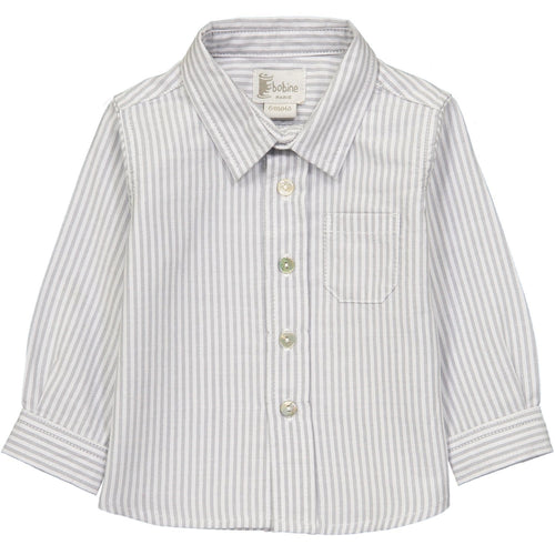 Grey Striped Shirt - souzu.co.uk