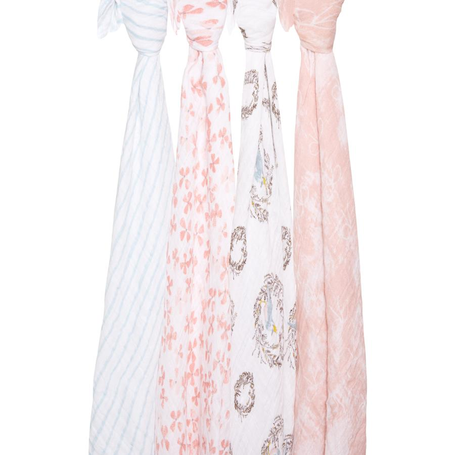 Birdsong Swaddle Pack of 4 - souzu.co.uk