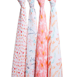 Petal Bloom Swaddle Pack of 4 - souzu.co.uk