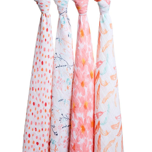 Petal Bloom Swaddle Pack of 4
