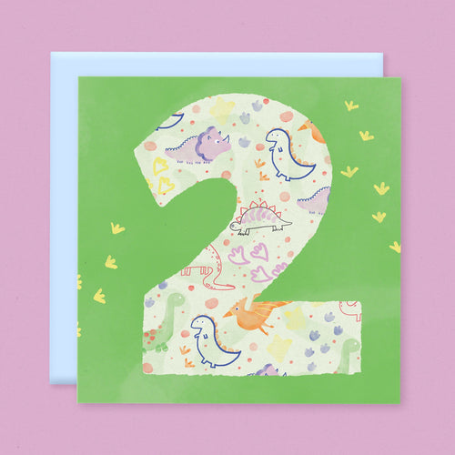 Age 2 Birthday Card - souzu.co.uk