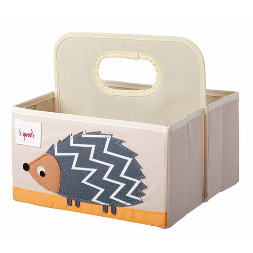 Hedgehog Grey Nappy Caddy - souzu.co.uk