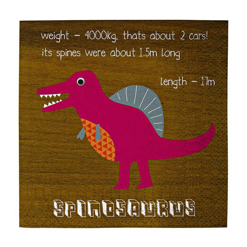 Dinosaur Small Party Napkins - souzu.co.uk
