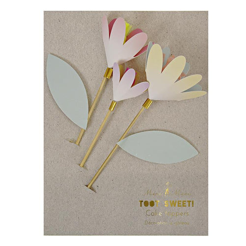 Toot Sweet Flower Cake Toppers - souzu.co.uk