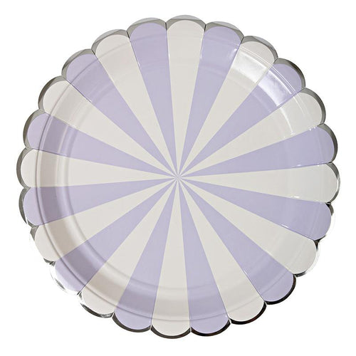 Lavender Striped Large Plate - souzu.co.uk