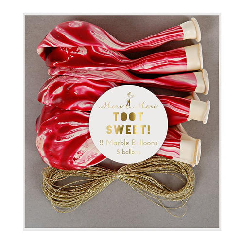 Red Marbled Balloons - souzu.co.uk