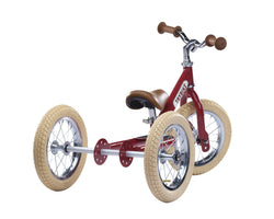 Steel 2 in 1 Trike Red - souzu.co.uk